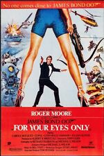 FOR YOUR EYES ONLY JAMES BOND Pakistani movie poster ROGER MOORE SUPER RARE