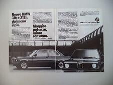 advertising Pubblicità 1981 BMW 316 e 318 i