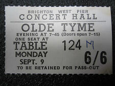 WEST PIER CONCERT HALL TICKET FROM 1966 (BRIGHTON, SUSSEX) DOUBLE SIDED (i360)