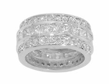 6.00 ct Princess And Round Cut Diamond Eternity Wedding Band Ring In 14 kt Gold