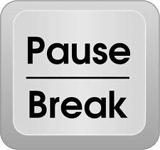 Framed Print - Computer Key Art PAUSE BREAK (Picture Poster Microsoft Keyboard)