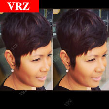 VRZ Short Brazilian Black 1b Hair Guleless Wigs for Black Women Pixie Cut Wigs