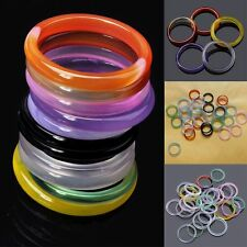 20 Pcs Wholesale Jewelry Lots Chic Natural Agate Gemstone Mix Colorful Ring POP