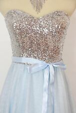 Windsor USA Grand  LT Blue $110 Prom Formal Evening Cocktail Short Dress Size 13