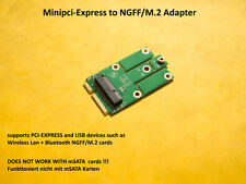 MiniPCI Express to m.2 (ngff) (PCIe + USB) Adapter for WiFi/Wi-Fi + Bluetooth Cards