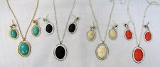 Wholesale Necklaces Lot 12 Stone Necklace Set # 0166 Turquoise Black Beige Coral