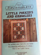 Little Porkers and Growlers Quilting Pattern by Piecemakers Country Store Unused