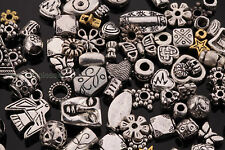 Wholesale 50g (About 90pcs) Mixed Tibet Silver Beads Spacer For Jewelry Making