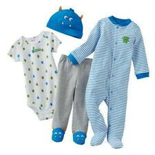 *NWT* Carter's baby boy 4-piece monster outfit layette set size NEWBORN