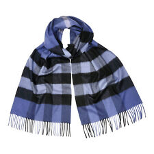 Burberry Giant Exploded Check Cashmere Scarf - Thistle Blue 3999549