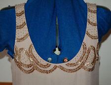 NEW Fearne Cotton Sz 10 Gold Bead detail Maxi Dress