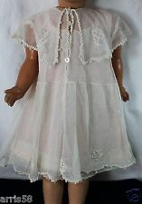 ANCIENNE ROBE EN TULLE IDEAL POUPEE 60/70CM JUMEAU SNF STEINER CELLULOÏD RAYNAL