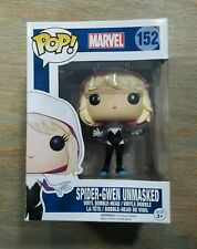 Funko pop spider gwen unmasked marvel spiderman