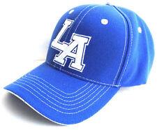LA Los Angeles Logo Cap Blue Hat Headwear With Adjustable Size