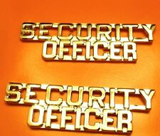 Security Officer Collar Pin Device Set Gold Plate Cut Out Letter P2202 New