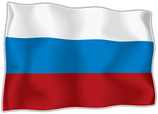 "Russia Country Flag Car Bumper Window Mirror Sticker Decal 5""X4"""