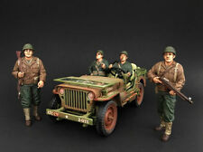 American Diorama 1/18 Scale Set Of 4 Military WWII Army Figures Diecast Model