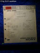 Sony Service Manual TA 707 / 707M Amplifier  (#2554)