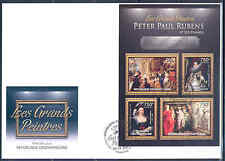 CENTRAL AFRICAN REPUBLIC 2012 PETER PAUL RUBENS AND WOMEN SHEET OF FOUR FDC