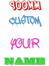 900mm wide CUSTOM Your Name Family Text Decal Stickers Car Window 4WD Wall JDM