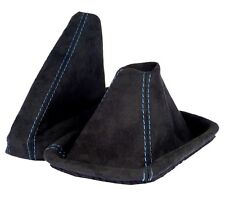 Schaltsack+ Handbremsmanschette passend für BMW E 46  aus ALCANTARA Naht BLAU
