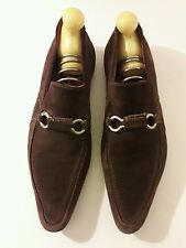 Mocassins marrons en daim 9.5 43.5 Laurent mercadal (paris)