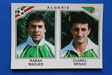 Panini WC MEXICO 86 STICKER N. 235 ALGERIE MADJER MENAD WITH BACK VERY GOOD/MINT