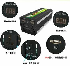 LED display 5000W 10000W(peak) 12v To 220v  Power Inverter For AC,Fridge Led Tvs