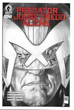 Dark Horse Comics Predator vs Judge Dreed vs Aliens #1 Glen Fabry Pencil Variant