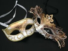 Princess White Black Couple Masquerade Ball Mask Prom Graduation Birthday Party