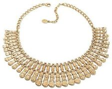 "NIKKI BY NIKKI POULOS ""CAIRO"" GOLDTONE 14-1/2"" COLLAR CLEOPATRA-STYLE NECKLACE"