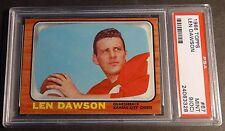 1966 TOPPS LEN DAWSON HOF #67 PSA MINT 9  O/C PSA 9 SMR $400++