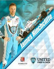 2014 JAMES HINCHCLIFFE INDIANAPOLIS 500 PHOTO CARD POSTCARD INDY CAR HINCH Town