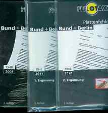 Philotax placas error-catálogo federal + Berlin 2. edición 2009 con 2 adiciones nuevo