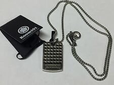 "Room 101 Stainless Steel 24"" Link Dog Tag Plaque Link Unisex Necklace NWT"