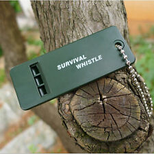 3 Frequencies Hiking Whistle Survival Rescue Emergency Signal Tool  Olive Green
