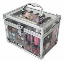 VANITY CASE COSMETIC Make Up Box Travel Carry Gift Storage 43 Pc -Urban Beauty
