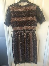 Oasis lace dress over a nude lining size 10 paid £68 new with tags