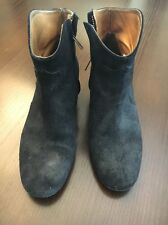 Isabel Marant Dicker Faded Suede Black  Boots Vintage Sz 40