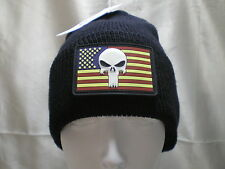 Government Issue Wool Watch Cap PVC USA Flag Glow Punisher Patch Beanie Knit Hat