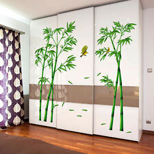 Wall Stickers Decals Art Mural Room PVC Removable Fresh Bamboo Birds Home Decor