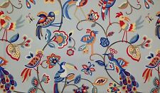 MILL CREEK FEATHERHEADS BLUE JAY INSECTS BIRDS FLORAL OUTDOOR FABRIC BY THE YARD