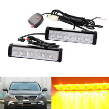 1 Kit LED Yellow Warning Emergency Beacon Strobe Flash Light Bar Car Truck