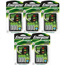 5 Pack Energizer Value Charger with AA Rechargeable NiMH Batteries CHVCMWB-4