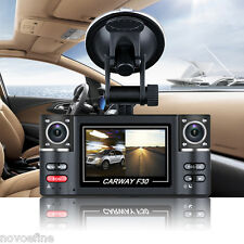 "2.7"" HD 1080P Car Dual Lens Dash DVR Video Recorder Night Vision Camera Rear Cam"