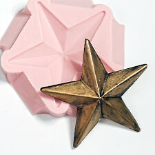 Large Lone Star Silicone Mold Mould Soap Wax Candle Chocolate Resin Clay  (942)