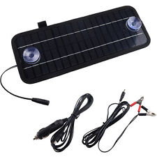 12V 5W Car Boat Van Solar Power Bank Battery Maintainer Charger UK
