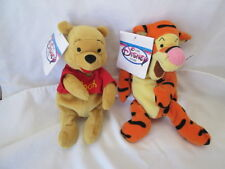 New Disney Store Winnie the Pooh & Tigger Beanie Bags Plush Animals Tags