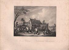 1850 print ~ paysan de mariage ~ d. teniers