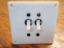 CIRCUIT BREAKER DOUBLE POLE 30 AMP SHORE POWER MAIN 661 7238 WHITE PANEL BRK-2
